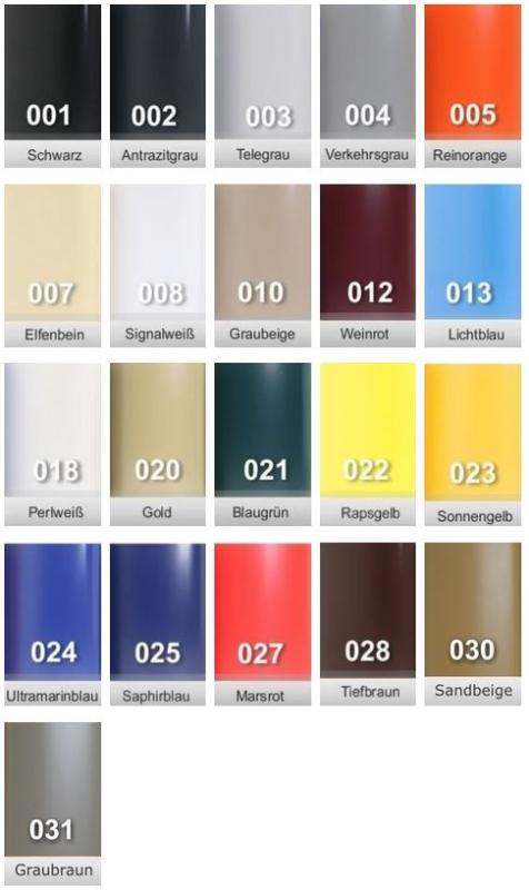 1m PVC Kunststoff Handlauf Treppenhandlauf 40x8 mm viele Farben weinrot