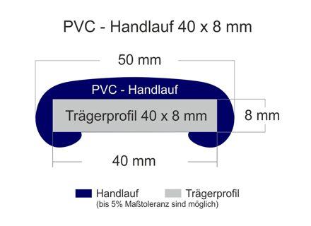 Pvc Kunststoff Handlauf F 408 40x8 Mm Meterware 10 82 P