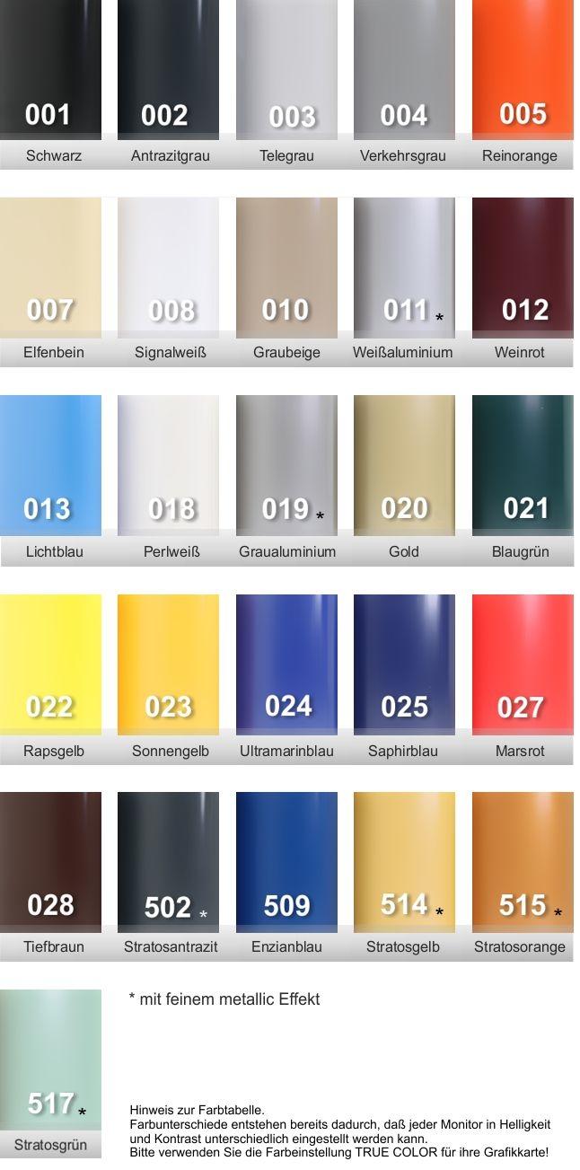 PVC Handlauf farben uebersicht